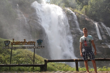 Lee (my boyfriend) at the stunning Waterfall!